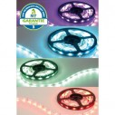 banda luminosa led rgb smd 72w 5050 60 12v ip68 5m hasta 2700lm 5m cambio de color premium