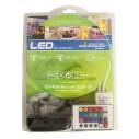 juego completo de banda luminosa led rgb 24w 5050 30 12v ip44 5m 1350lm 5m blanco frío premium incl transformador regulador